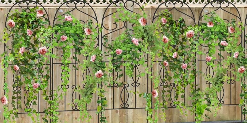 Metal Garden Trellis Keep Vine Plants Flowers Off The Ground