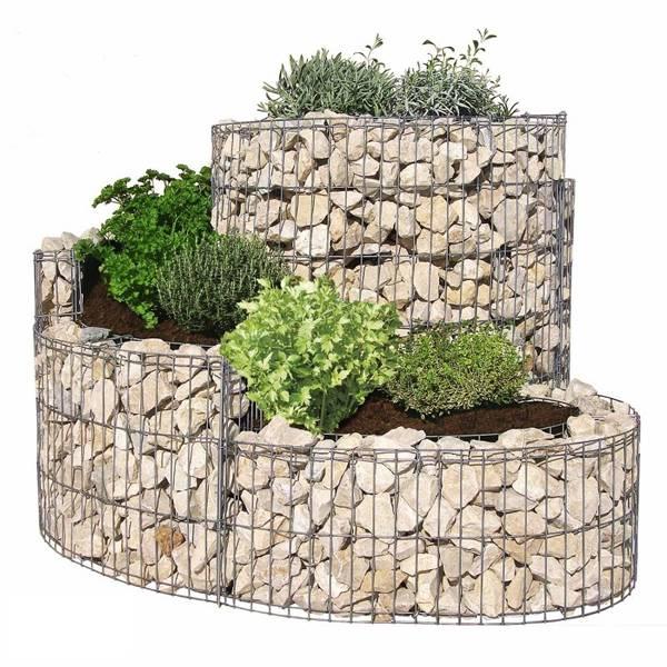 Use Garden Gabion Baskets In Your Garden For More Creative